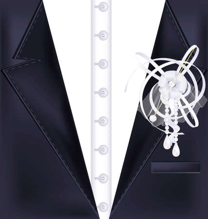abstract dark male costume with white pin
