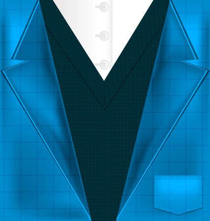 male costume: abstract background blue male costume with vest