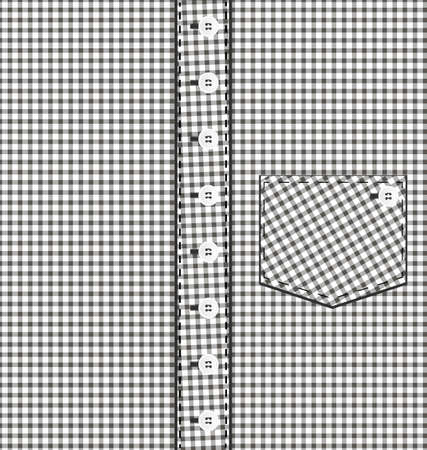 pocket: abstract background plaid male shirt with pocket
