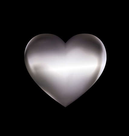 metals: dark background and the light metal heart