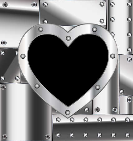 metalline: iron background and the light metal heart