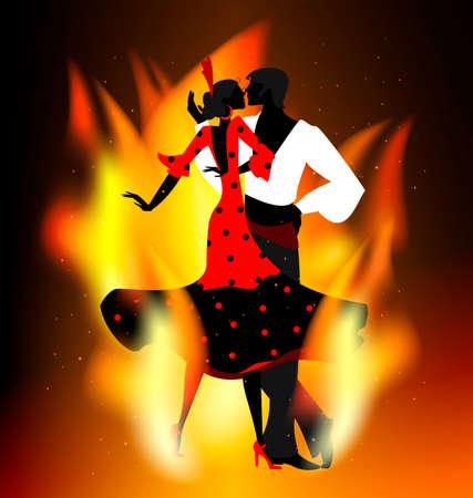 burning flamenco dance