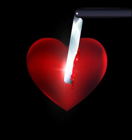 heart and blade Ilustração