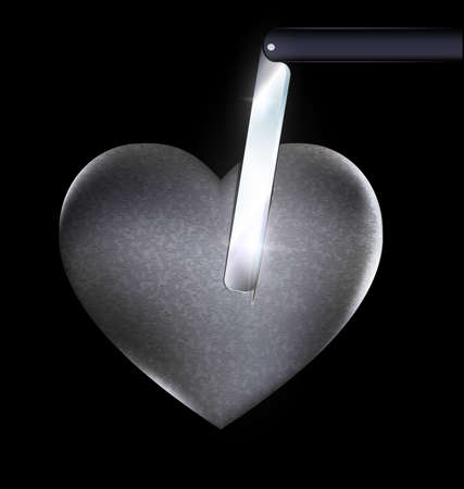 heart-stone and blade Imagens - 70469299