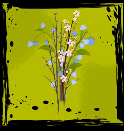 foursquare: abstract bouquet of flowers Illustration