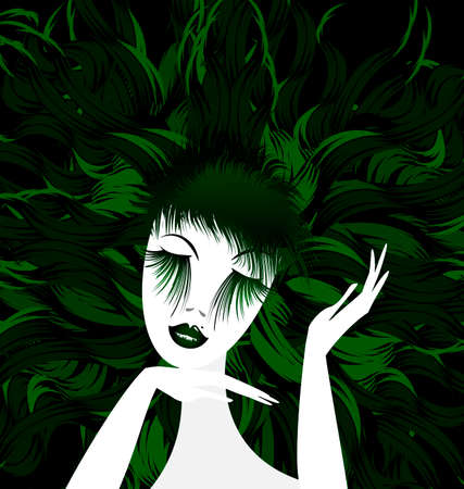 mummers: abstract green lady