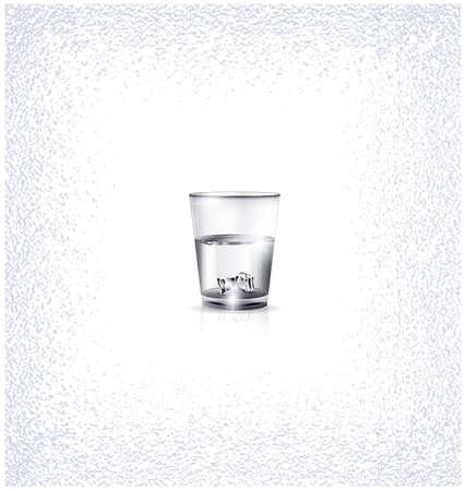 Plain shot glass illustration. Иллюстрация