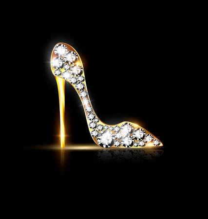 zapato abstracto de la joyería Ilustración de vector