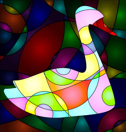 interweave: abstract colored background image of bird consisting of lines