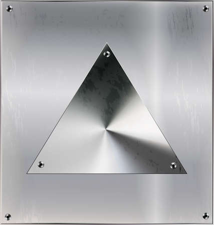 metal sheet with triangle and holes