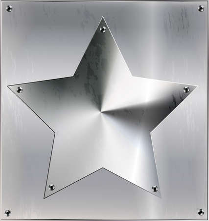 metal sheet with star and holes