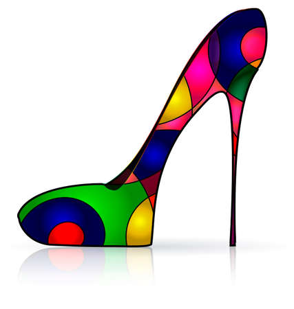 heelpiece: abstract colored image of the shoe