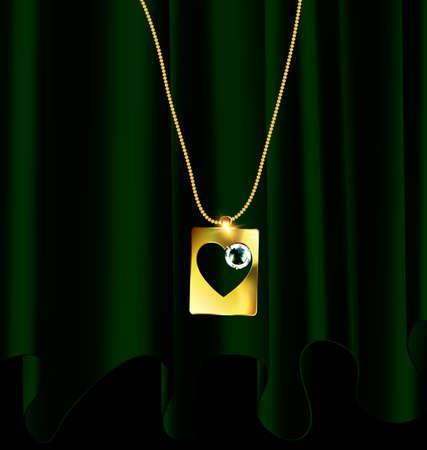 Gouden ketting met hanger.