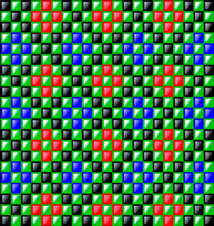 gloss: Colored glossy blocks.
