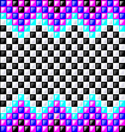 interweave: Abstract colored background image consisting of lines with purple, white and black glossy blocks