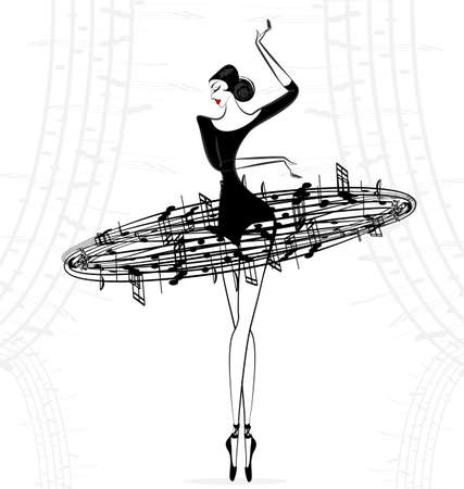 Lady ballet dancer icon.
