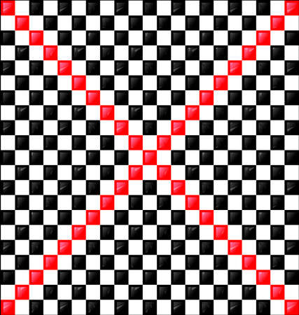 interweave: abstract white black background red sign