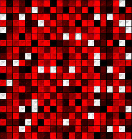 interweave: colored image of red blocks