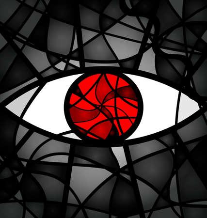 Red gray eye
