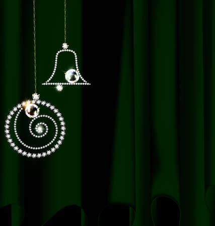 drape with jewel Christmas decoration Illustration