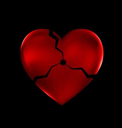 abstract broken heart Illustration