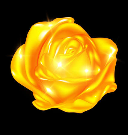 Abstract golden rose