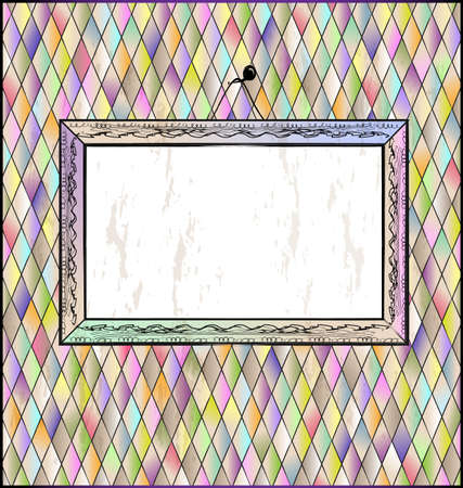 romb background with abstract frame Illustration