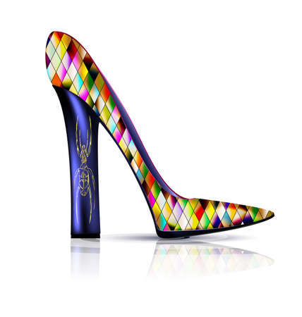 Abstract colored shoe