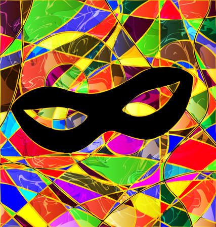abstract background carnival mask colored image consisting of lines