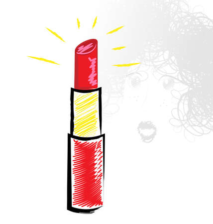 shine of red lipstick Banque d'images - 95377282