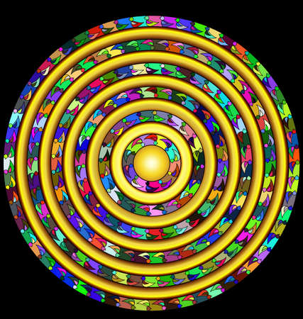 abstract colored circle