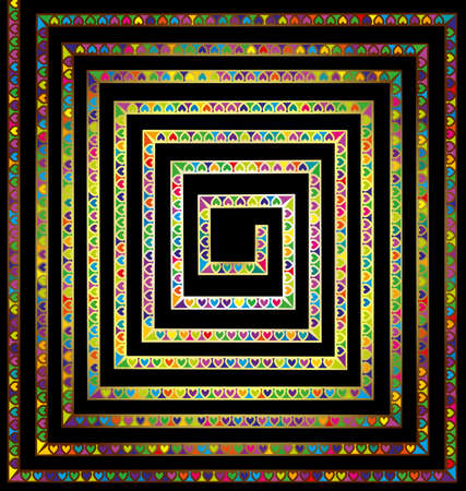 dark and colored spiral