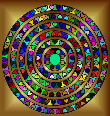 Golden abstract circles