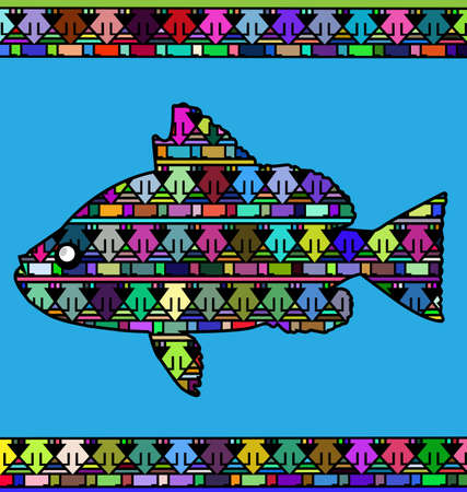 abstract colored fish