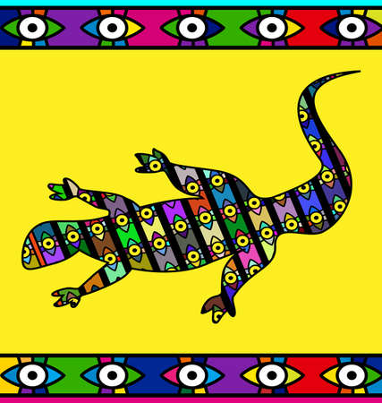 abstract colored image of lizard Иллюстрация