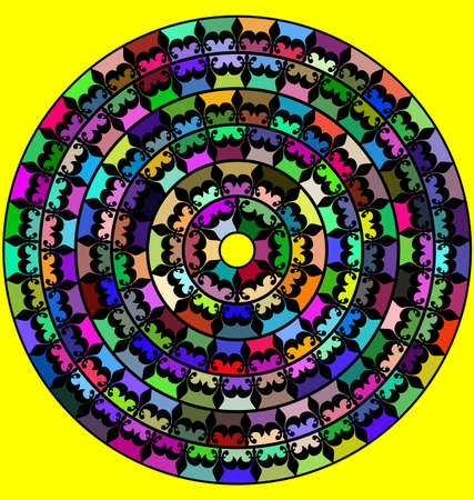 abstract colored image of mandala consisting of circles. lines and figures 版權商用圖片 - 109773868
