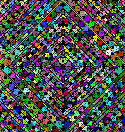 abstract colored background image of rhombus frame consisting of lines and figures