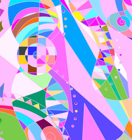 vector illustration colored background image consisting of lines with abstract figures