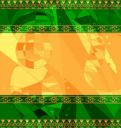 colored background image of frame consisting of lines with abstract figures Çizim
