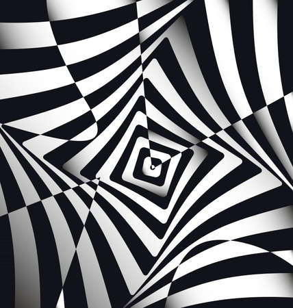 vector illustration black white abstract lines and squares Ilustração
