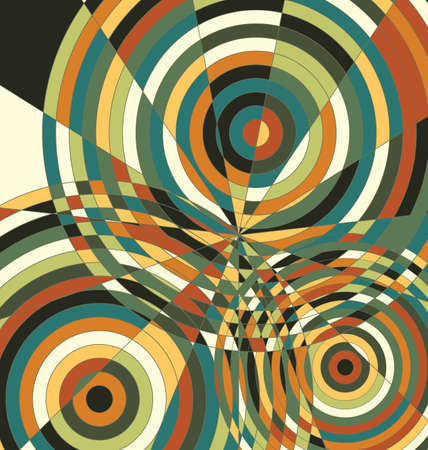 vector illustration background ornament colored abstract circles and lines