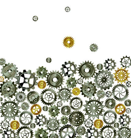 vector illustration dark metal background with gears