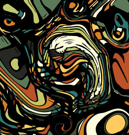 colored background image abstract ornament with figures eyes