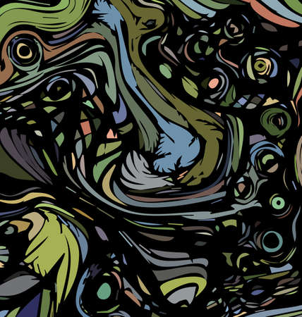 vector illustration background ornament colored abstract waves lines and figures 向量圖像