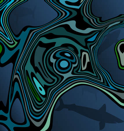 colored background image abstract image of shark in the water