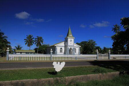 kilo: Church at Haapiti and Kilo post