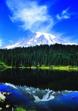 tacoma: Mount Rainier Stock Photo