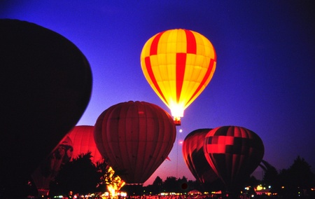 Balloons at night Stock Photo - 18339901