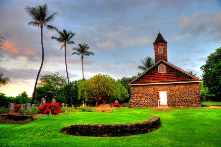 congregational: Keawalai Congregational Church Stock Photo