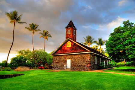 Keawalai Congregational Church Stock Photo